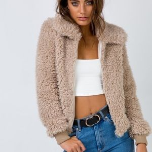 NWT Princess Polly Furry Jacket